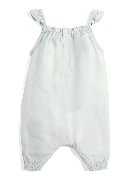 Embroidered Linen Playsuit image number 2