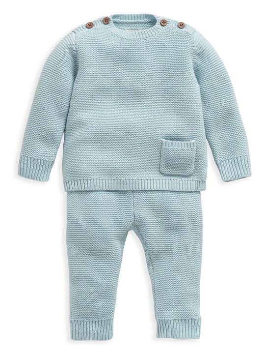 Blue Knitted 2 Piece Set image number 1