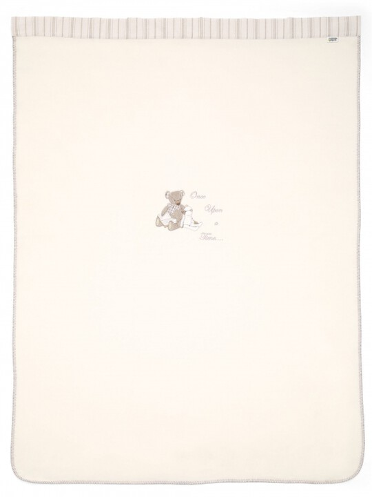 Once Upon A Time - Neutral Large Embroidered Fleece Blanket (L: 160 x W: 120cm) image number 2