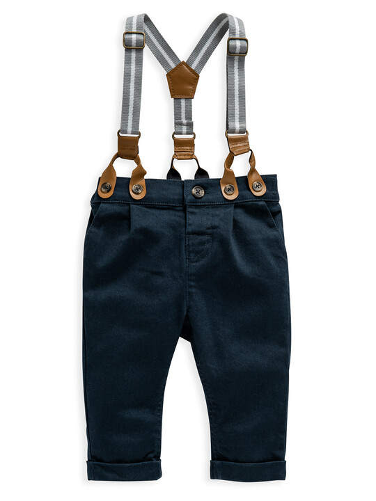Navy Chino With Braces image number 1