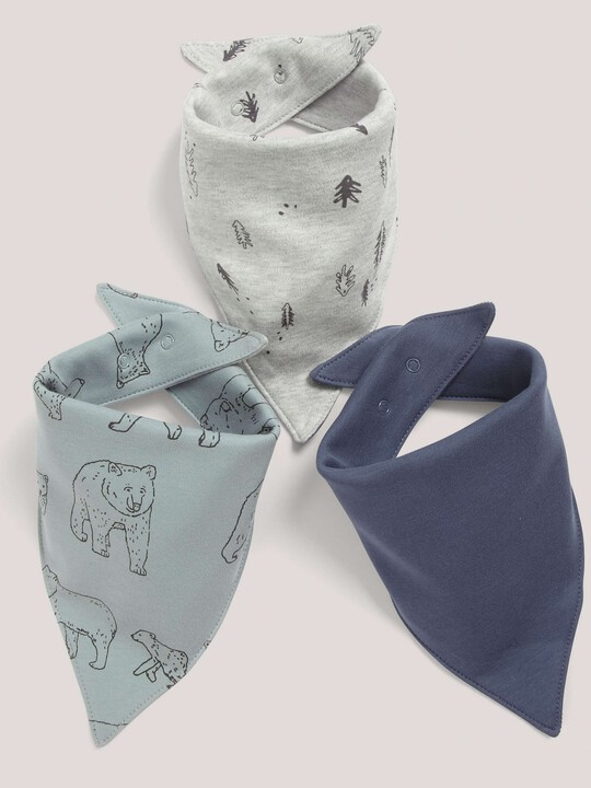 3 pack Bear Mix Bandana Bibs- One size image number 1