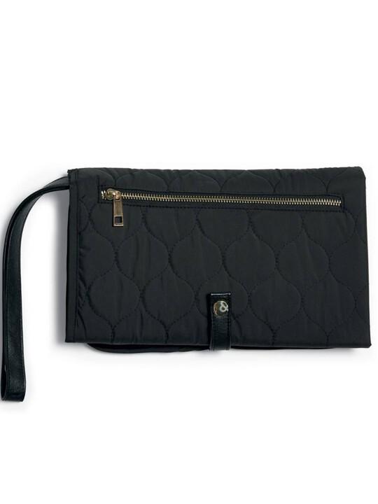 Clutch Bag - Black Quilted image number 3