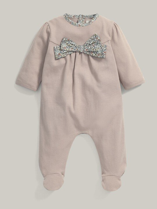 Liberty Print Bow All-In-One Pink- 0-3 image number 1