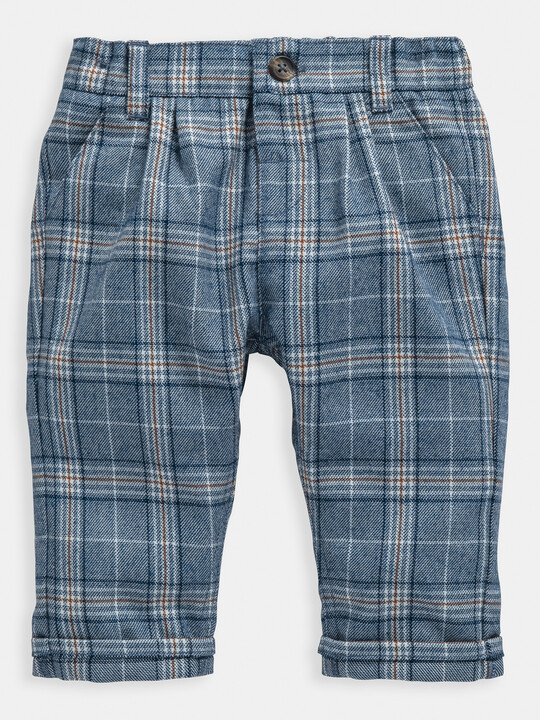 Blue Check Trousers image number 1