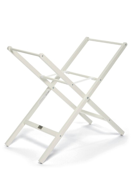 Classic Folding Moses Basket Stand - Ivory image number 1