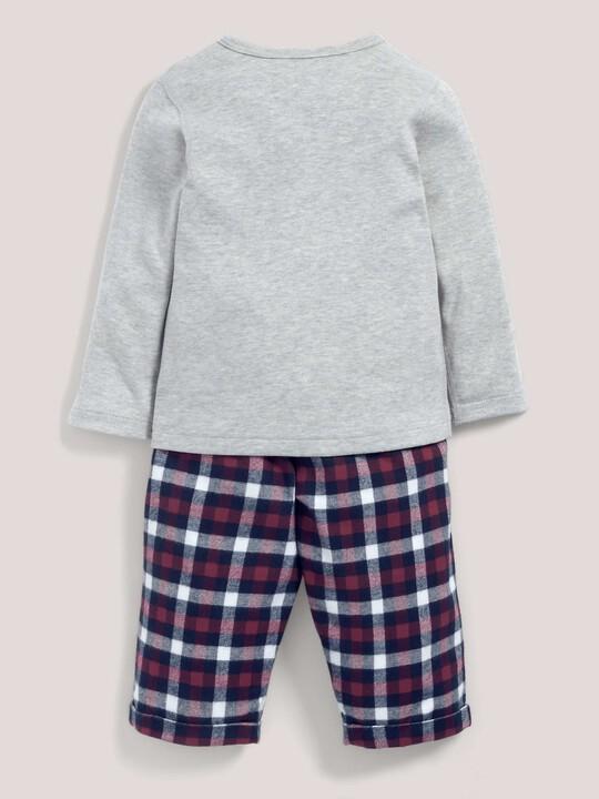 Check Bottom Pyjamas Grey/Navy- 18-24 months image number 3