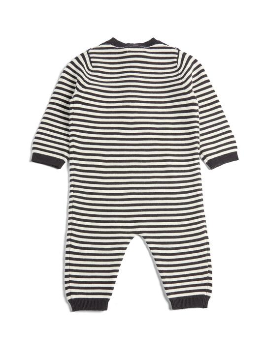 Knit Stripe Romper image number 2