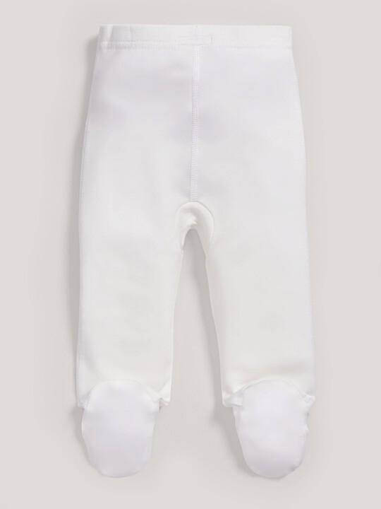 Bamboo Fabric Leggings White- New Born image number 4