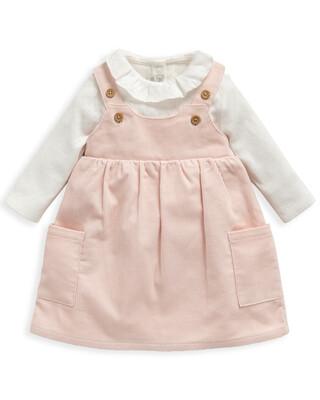 2 Piece Blouse & Pink Cord Dress