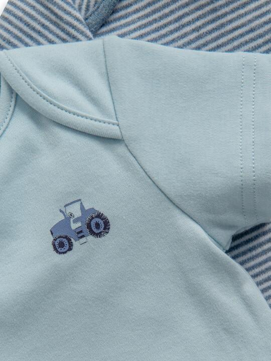 Blue Stripe Jersey Pyjamas 2 Pack image number 2