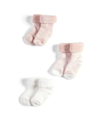 3 Pack Loopback Socks Pink