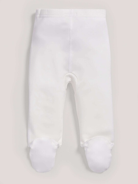 Bamboo Fabric Leggings White- New Born image number 2