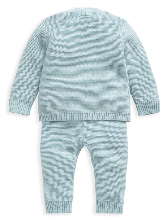 Blue Knitted 2 Piece Set image number 2