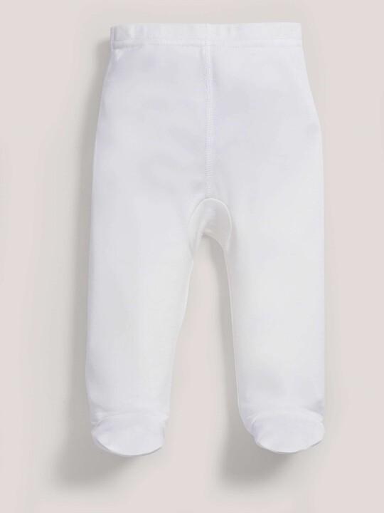 Bamboo Fabric Leggings White- New Born image number 1