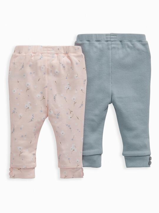 Pink Floral Leggings 2 Pack image number 2