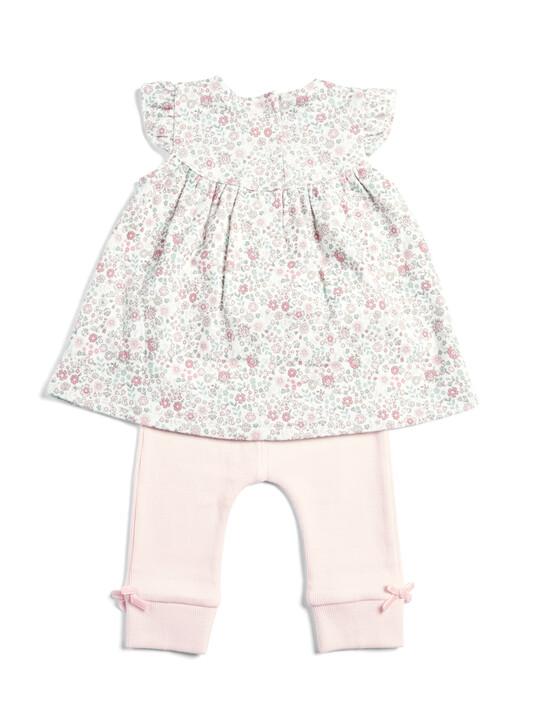 Floral Top & Ribbed Legging Set image number 2