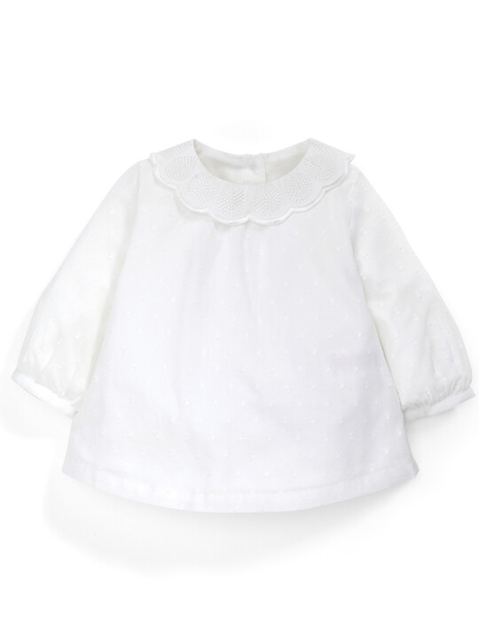 Crochet Collar Blouse image number 1