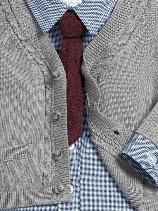 Occasion Cardigan, Shirt, Tie & Trouser Set image number 3