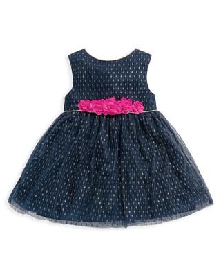 Dobby Mesh Dress