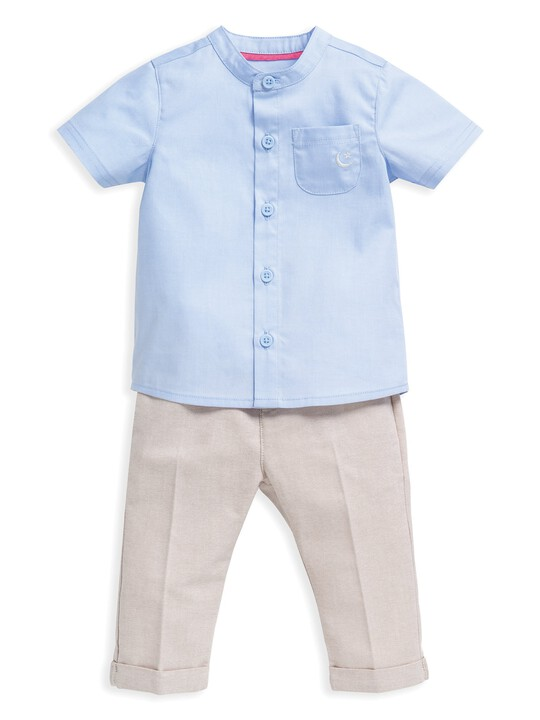 2 Piece Chambray Shirt & Trousers Set image number 1