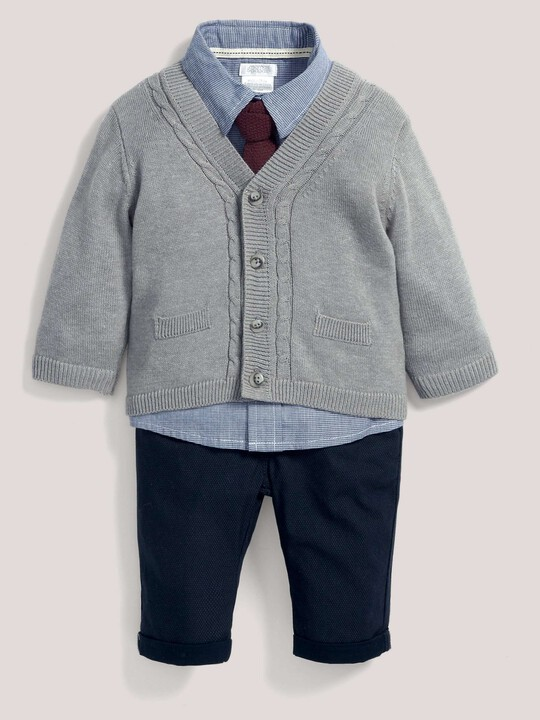 Occasion Cardigan, Shirt, Tie & Trouser Set image number 1