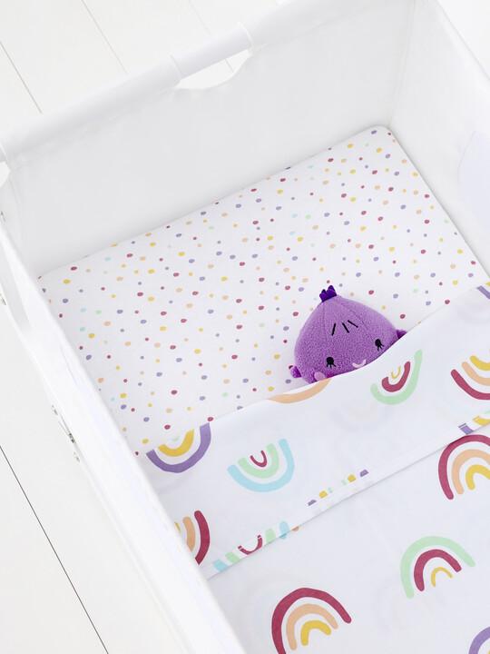 3pc Crib Bedding Set – Colour Rainbow image number 5