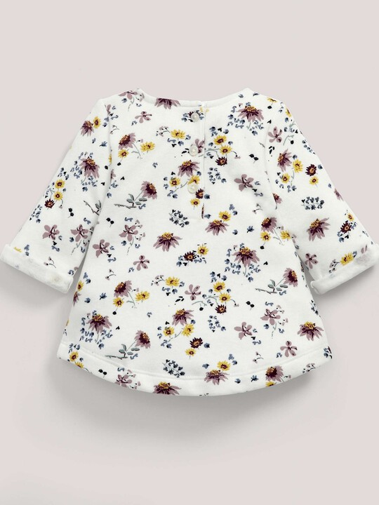 Floral Print Sweater Cream- 0-3 image number 1