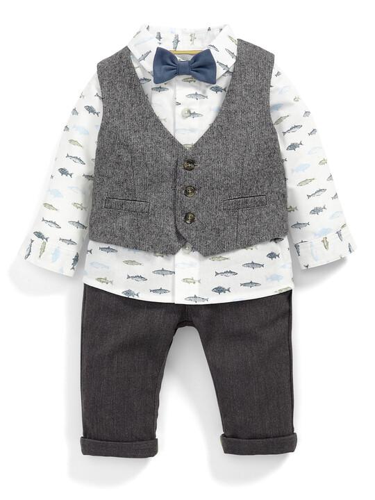 Waistcoat, Shirt, Chinos & Bow Tie Set image number 1
