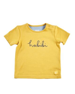 Yellow Slogan T-Shirt