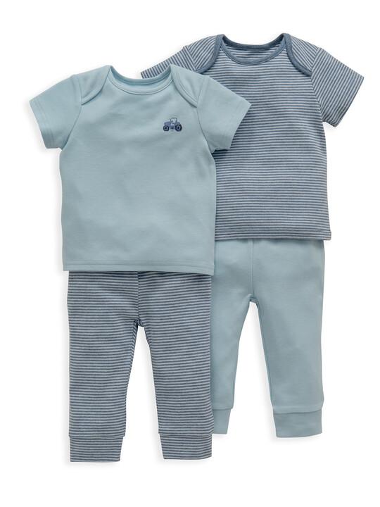 Blue Stripe Jersey Pyjamas 2 Pack image number 1