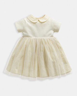 Jersey Broderie Dress