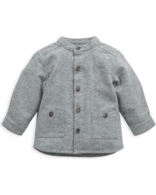 Grey Long Sleeve Collared Shirt