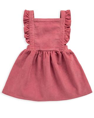 Pink Cord Pinny Dress