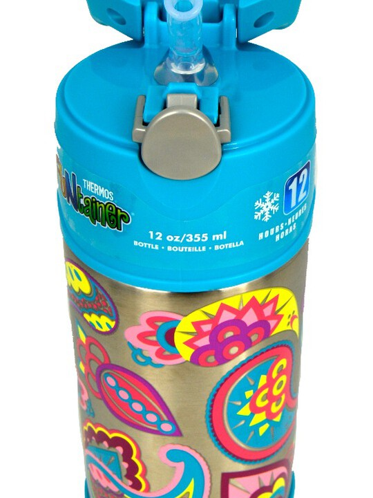 Thermos - Funtainer Bottle Steel Hydration Bottle 355Ml,Paisley Flower image number 4