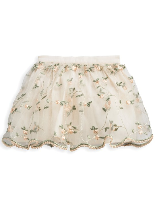 2 Piece Floral Embroidered Skirt & Blouse Set image number 4