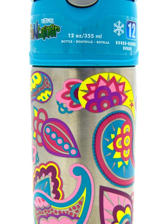 Thermos - Funtainer Bottle Steel Hydration Bottle 355Ml,Paisley Flower image number 2