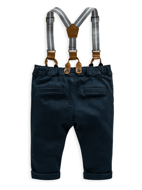 Navy Chino With Braces image number 2