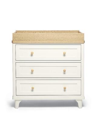 Lucca 3 Drawer Nursery Dresser & Changer Unit - Ivory Oak